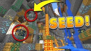 BEST RAVINE SEED in Minecraft 1.2 w/ Mineshafts at SPAWN!! (Pocket Edition, Xbox, PS3/4, PC)