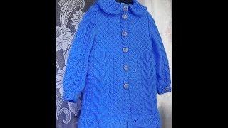 Пальто для девочки спицами.  Часть 1 - вяжем узор подола