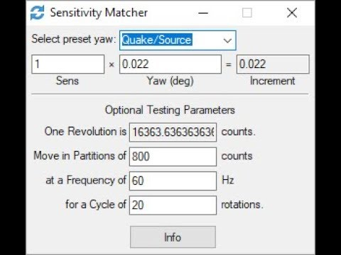 Sensitivity Matcher - 1 0