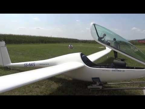 One man assembling glider plane with SPRC made by Enstroj (less than 15 min)