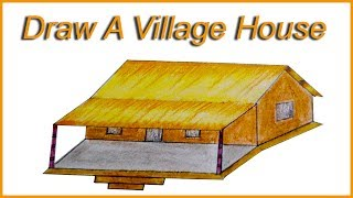 How to draw Village House with coloring technique  by Karim sir  | Kashful cultural institute.