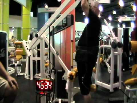 Jimmy the Geezzer Sets The Lat-Pulldown One Hour World Record