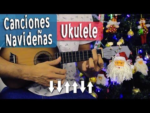 7 Canciones Navideñas En Ukulele Con 4 Acordes - Villancicos Fáciles