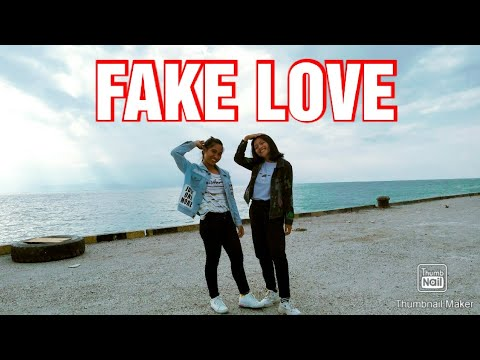 COVER DANCE FAKE LOVE 'BTS'|| COVER BY DINA & EDIS