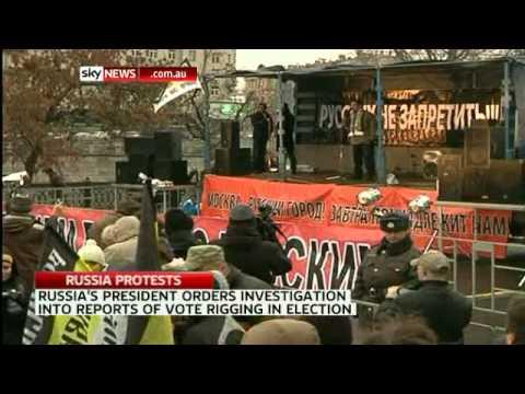 Russian protesters demand ballot box recount
