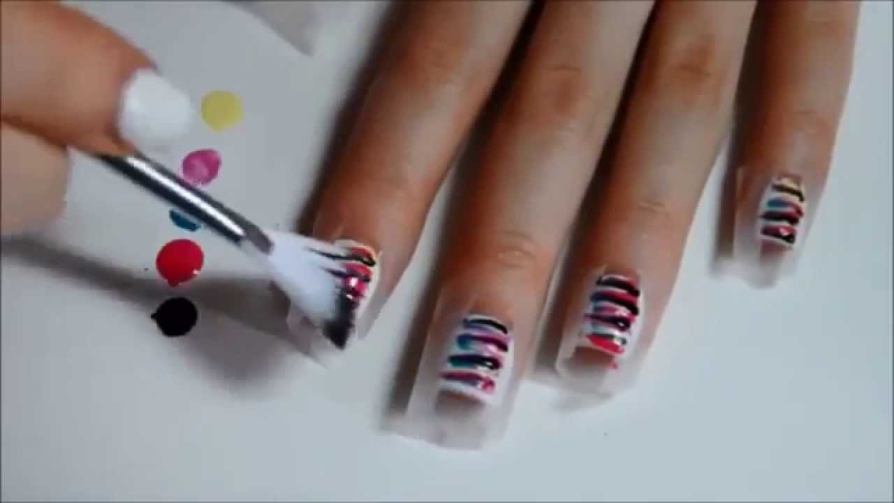 Beauty inspiration from avon striped nails tutorial youtube for Avon nail decoration brush