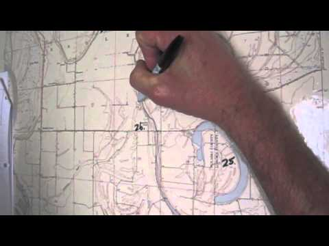Determining the Township, Range, Section, and Quadrant of the Section: Keo, Arkansas
