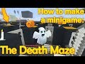 Minecraft - How to make a minigame: The Death Maze (halloween)