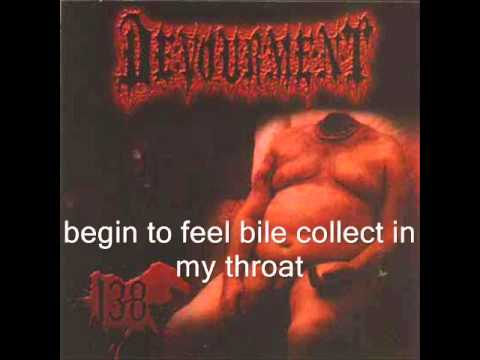 Devourment - Choking On Bile (karaoke - Subtitles)