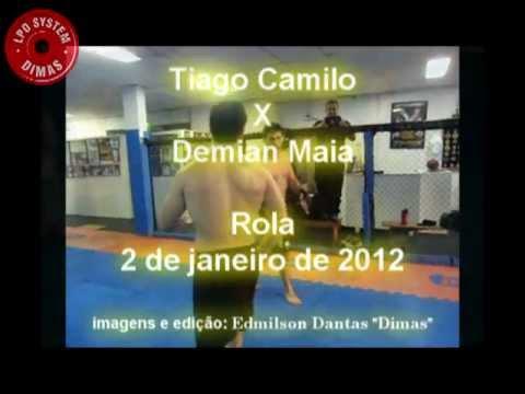 Tiago Camilo (judo) E Demian Maia (bjj) Treino Dia 2 De Janeiro De 2012