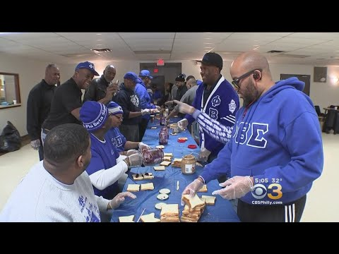 Phi Beta Sigma Fraternity In Lawnside Prepares Sandwiches For Day Of Service Project