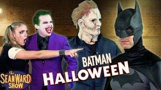 BATMAN vs HALLOWEEN MICHAEL MYERS!! Joker, Harley Quinn, Batgirl Epic Horror Parody