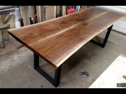 Walnut Live Edge Dining Table Four Fields Furniture