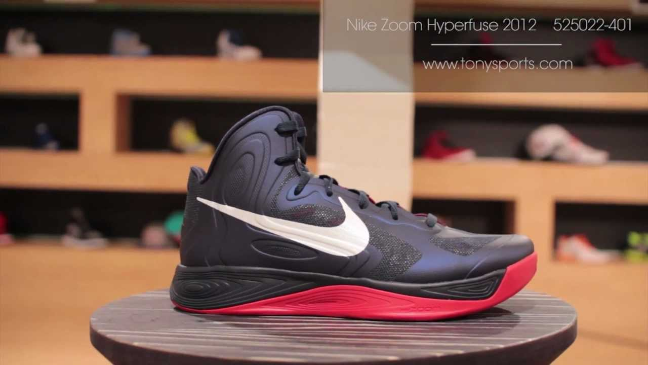 newest 212c9 642d3 Nike Zoom Hyperfuse 2012 - Obsidian University Red White - 525022-401  www.tonysports.com