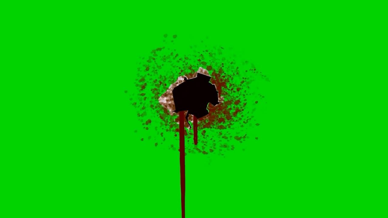 EFECTOS CON FONDO VERDE (Efecto Disparos Con Sangre)