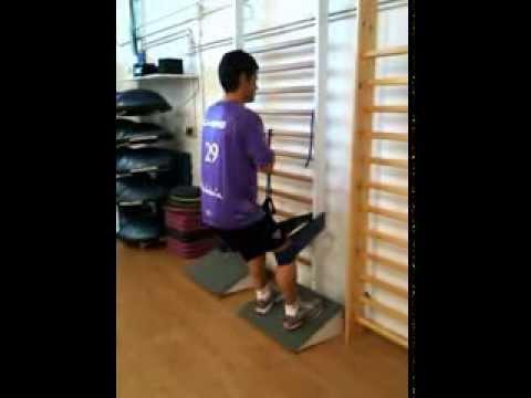 Quadriceps Eccentric Training with Russian belt on Decline ...
