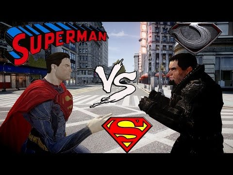 SUPERMAN VS GENERAL ZOD - MAN OF STEEL FIGHT - GRAND THEFT AUTO