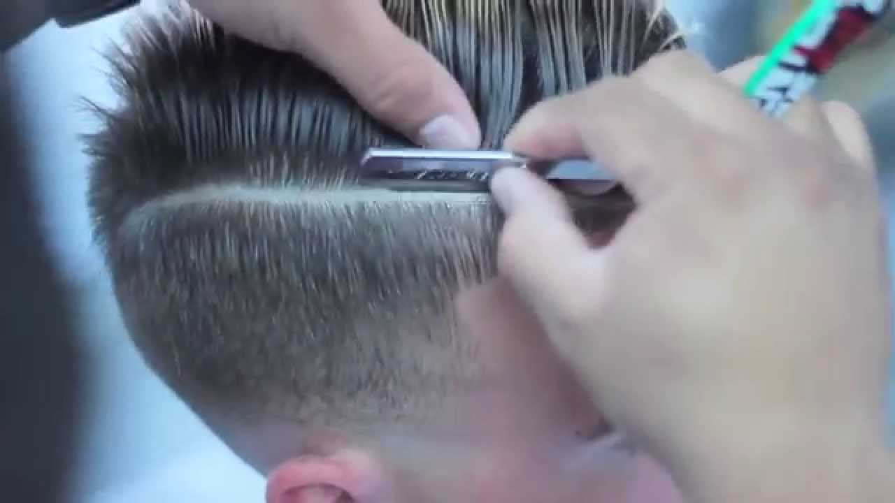 blade fade haircut comb skin fade haircut with part fade with combover 4542