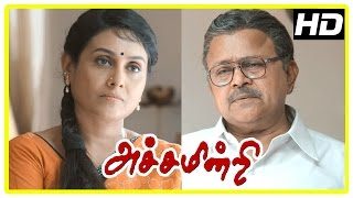 Achamindri Movie Scenes | Bharath | Radha Ravi talks about the education system | Saranya