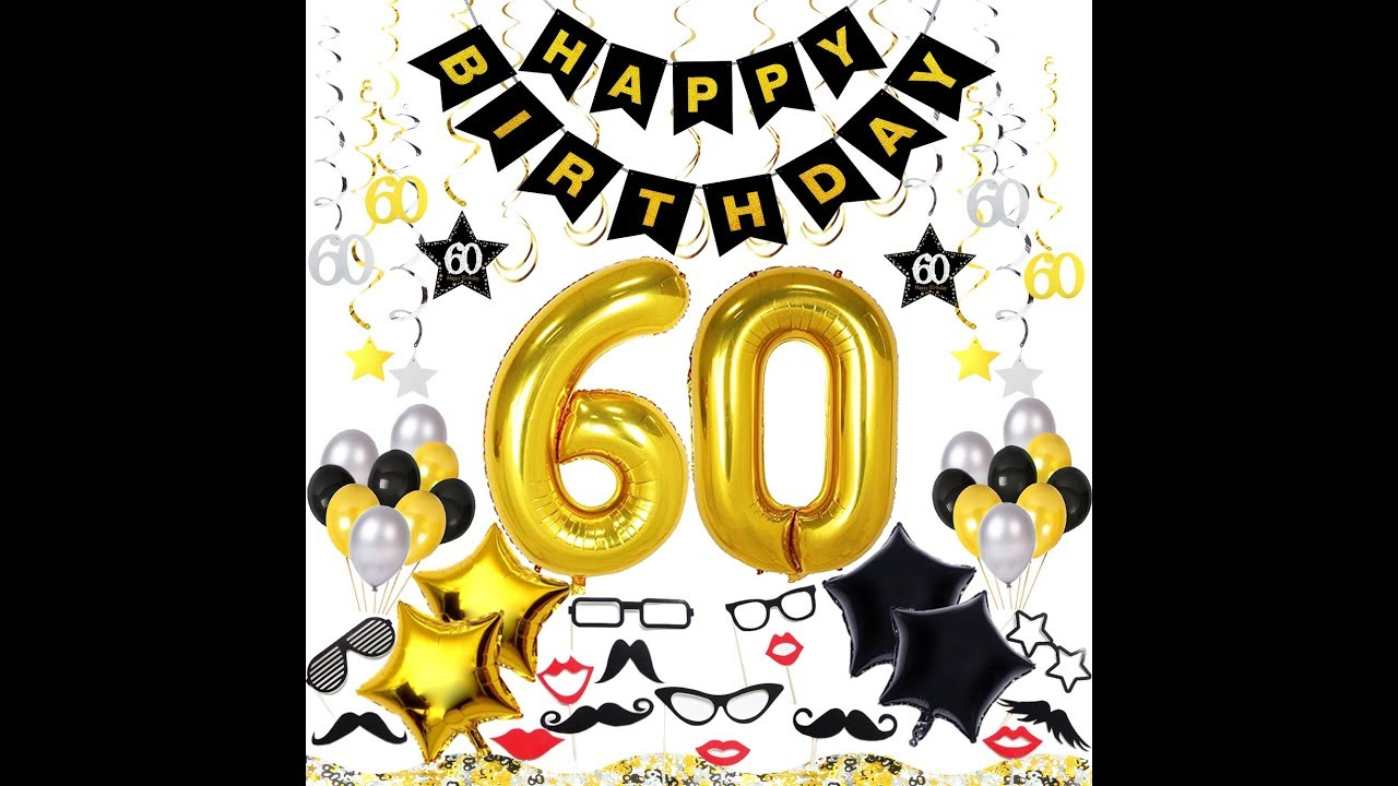 60th Birthday Party Ideas Decorations Kit 70 Pieces
