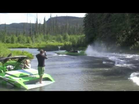 Speed Boat Launches Over a Beaver Dam [VIDEO]