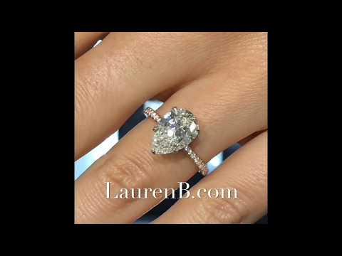 3 Carat Pear Shape Diamond Engagement Ring