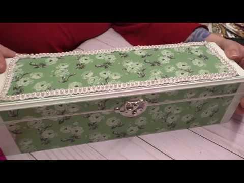 DIY Jewelry Box With Decorative Paper