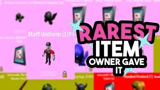 [Roblox] Case Clicker: THE RAREST ITEM IN GAME (OWNER GAVE IT! ONLY 1 IN THE GAME)