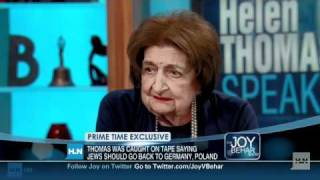 CNN Helen Thomas 'Jews don't have the right to take other people's land'