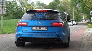730HP Audi RS6 Performance C7 w/ Akrapovic Exhaust - Launch, Brutal Accelerations!