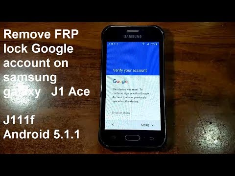 How To Remove Google Account On Samsung Galaxy J1 Ace J111f Android 5.1.1 New And Fastest Method