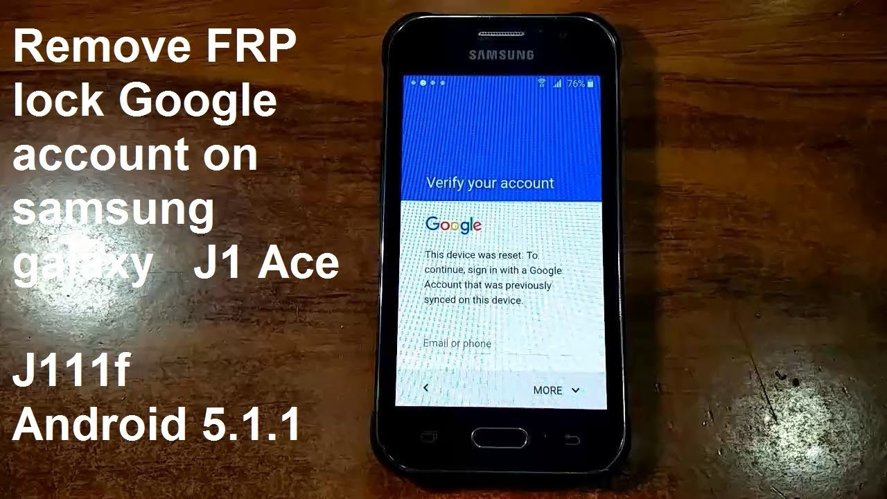 how to remove google account on samsung galaxy j1 ace j111f