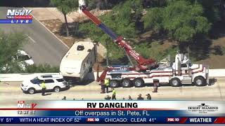 RV SAVED: After dangling off freeway overpass in St. Petersburg, FL (FNN)