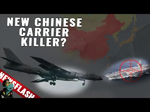 Newsflash: Chinese bomber just flew with the biggest anti ship missile in the world