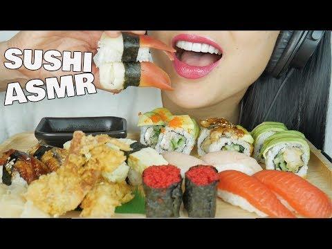 ASMR SUSHI NIGIRI (EATING SOUNDS) NOT TALKING | SAS-ASMR