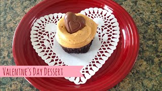 Secret Kiss Brownie Cupcakes With Peanut Butter Frosting