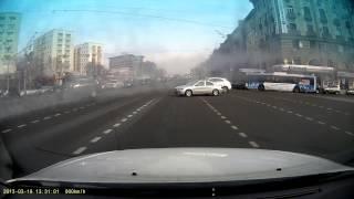 Авария на садовом с BMW vs ВАЗ 2109
