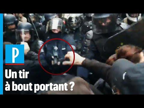 La policía francesa dispara un LBD a bocajarro a un manifestante