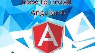 how to install angular 4