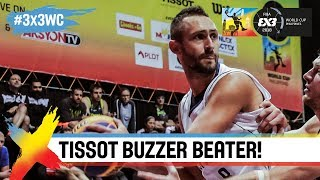 TISSOT Buzzer Beater! Dejan Majstorovic banks it in to advance to the 3×3 World Cup Finals!