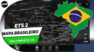 🚛 ETS 2 - COMO BAIXAR E INSTALAR MAPA BRASILEIRO EAA  1.34