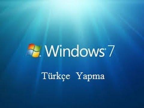 Bilgisayar Nasıl Türkçe Yapılır?(Windows 7)