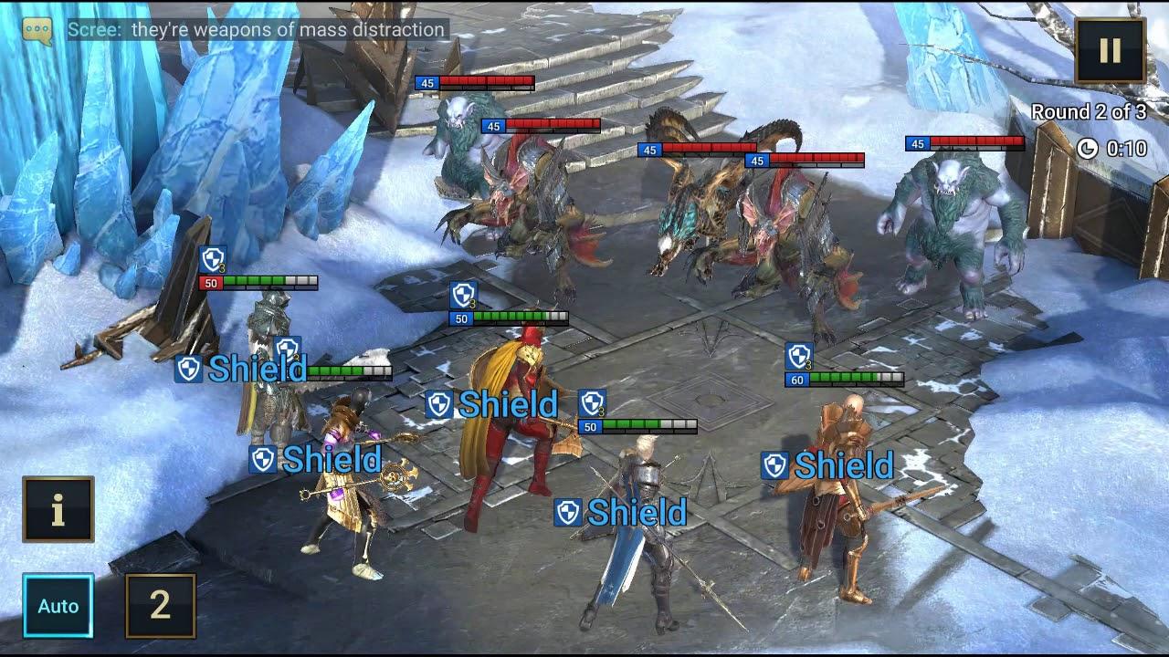 Ice Golem's Peak Stage 10 - Raid Shadow Legends Dungeons Gameplay