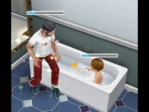 How to bathe a toddler and Kindergarten Tour | Sims Free Play