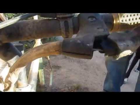 Funda casera para cable de freno delantero de bicicleta de montaña antigua