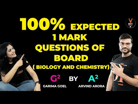 100% Expected 1 Mark Questions P1| 12th Board 2020 ( Biology & Chemistry )|Arvind Sir & Garima Ma'am