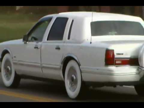 94 Lincoln On Gangster Whitewalls Youtube