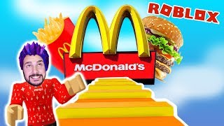 Roblox: ENTKOMME FROM MCDONALDS! KAAN HAT GEKLAUT & MUST ABHAUEN! Rob The McDonalds Obby