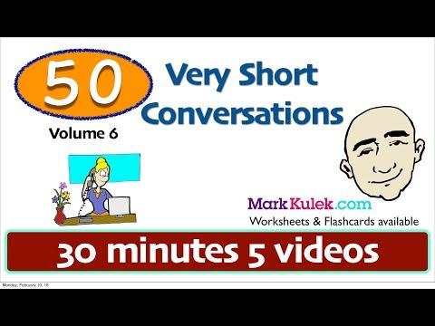 50 Very Short Conversations - 30 Minutes | Vocabulary Helper | English Speaking Practice | ESL
