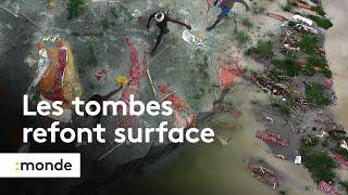 En Inde, la crue du Gange expose les tombes des morts liés au Covid